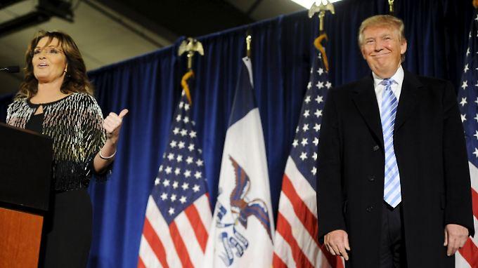 """""""Fühle mich so geehrt"""": Sarah Palin unterstützt Donald Trum im US-Wahlkampf"""