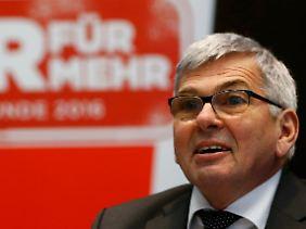 Jörg Hofmann vermeldet eine steigende Mitgliederzahl.