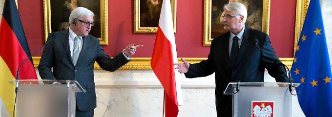 Steinmeier mit dem polnischen Außenminister Witold Waszczykowski in Warschau