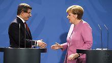 """Merkel trifft Davutoglu: """"Es knirscht und hakelt"""""""