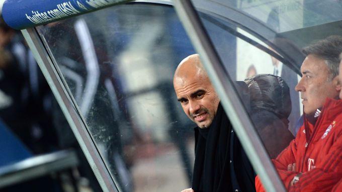 """Während des Spiels war von Guardiolas """"ganz zufrieden"""" eher weniger zu sehen."""