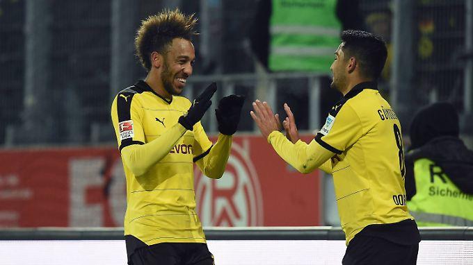 Dortmund jubelt: Beim 3:1 über Mönchengladbach sticht besonders Ilkay Gündogan heraus.