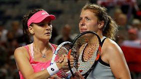 Richtig freuen konnte sich Agnieszka Radwanska nicht über ihren Sieg.