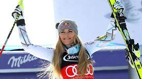 Lindsey Vonn feiert ihren nun schon 75. Weltcup-Sieg.