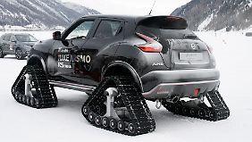 Die Ketteneinheit für den Nissan Juke RSnow ist als Serienprodukt bei einem amerikanischen Hersteller bestellbar.