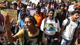 Der Selbstmord eines Kastenlosen löste in Indien Proteste aus.
