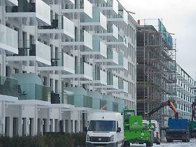 Viele Gebäude werden saniert und zu Luxus-Appartments umgebaut.