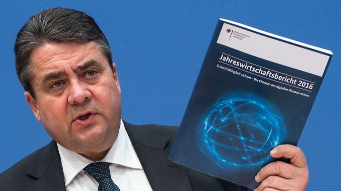Geplante Investitionen: Gabriel ist unzufrieden mit deutschem Wirtschaftswachstum