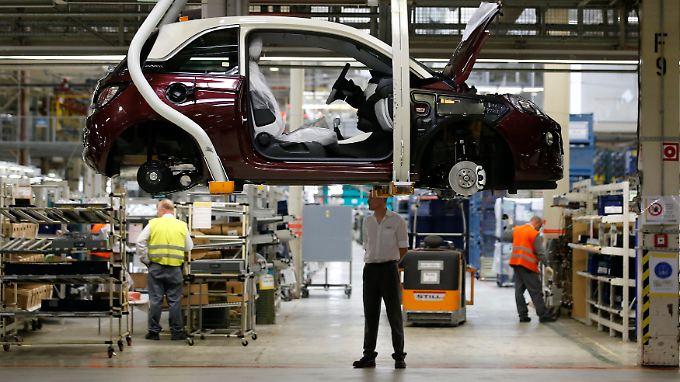 """Ein """"Adam"""" in der Produktion am Standort Eisenach: Fahrzeuge ab Werk sind nicht betroffen."""