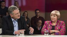 Der Integrationstalk bei Maybrit Illner gerät zur Debatte über vermeintliche Falschmeldungen der AfD (ZDF/Jule Roehr).