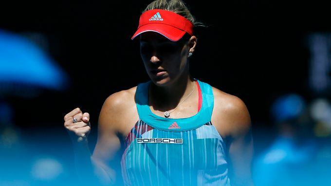 """Angelique Kerber bereitet sich """"ganz normal"""" auf ihr Finale gegen Serena Williams vor."""