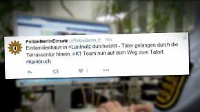 Aktion #keinbruch: Polizei twittert live von Einbrüchen