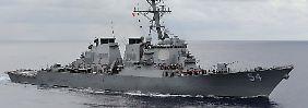 """Die """"USS Wilbur"""" ist mit Raketen bestückt - ein deutliches Zeichen an China."""