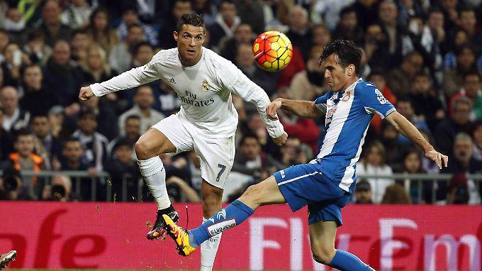 Christiano Ronaldo traf drei Mal für Real.