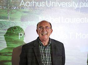 Glücklicher Gastprofessor an der Universität im dänischen Aarhus: US-Ökonom Dale Mortensen.