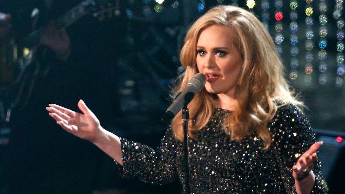 Not amused: Adele.