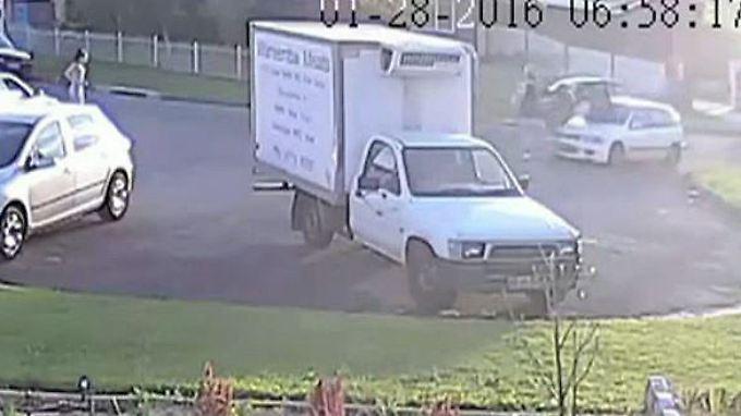 Kaum zu glauben, aber wahr: Kamera zeichnet dreiste Fahrerflucht auf