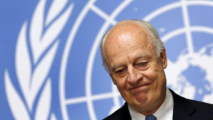Wie die erste Bilanz auch ausfallen mag, vor ihm liegt sehr viel Arbeit: UN-Sondervermittler Staffan de Mistura.