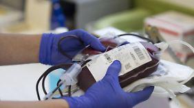 Eine Blutkonserve.