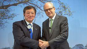 Ren Jianxin ist Vorsitzender von ChemChina, Michel Demare Vorstandschef von Syngenta.
