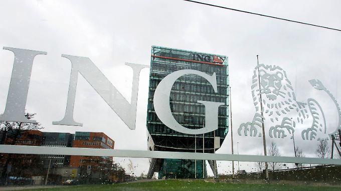 Löwe im Logo: Die Konzernzentrale von ING in Amsterdam.