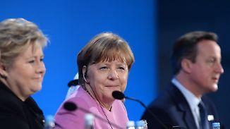 Merkel gibt 2,3 Milliarden Euro: Konferenz in London wirbt um Geld für Syrer