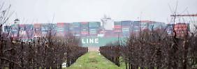 150 Millionen Dollar warten auf Flut: Containerschiff steckt wohl länger fest