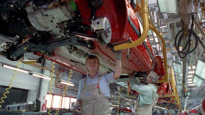 Golf-Produktion im VW-Werk Mosel I bei Zwickau.