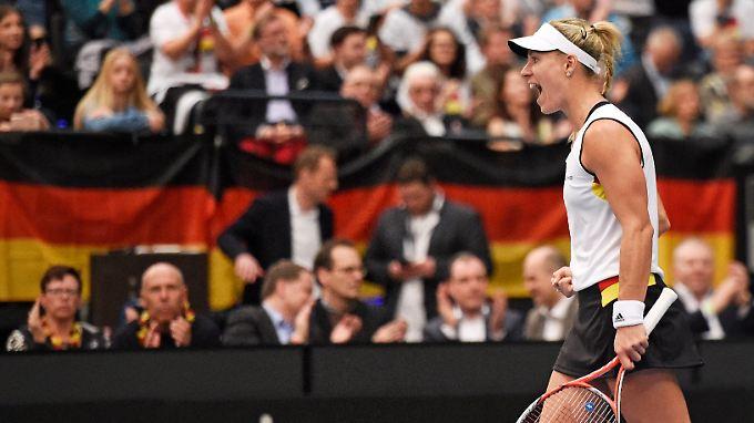 Angelique Kerber gab in ihrem ersten Einzel nur drei Spiele ab.