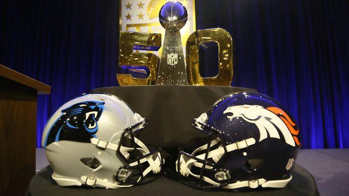 Im 50. Super Bowl treffen die Denver Broncos auf die Carolina Panthers.