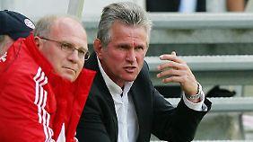 Man kennt sich: Uli Hoeneß und Jupp Heynckes.
