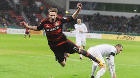 Stefan Kießling ist sauer über das Pokal-Aus seiner Mannschaft aus Leverkusen.