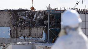 Der zerstörte Reaktor Nr. 3.