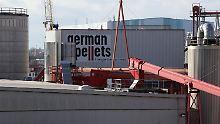 German-Pellets-Werk in Wismar.