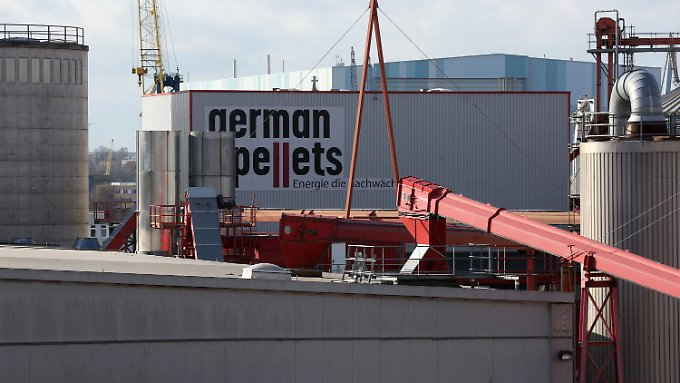 German-Pellets-Werk in Wismar.