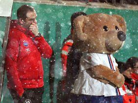 Für Heidenheims Coach Frank Schmidt, sein Team und das Maskottchen war letztlich nichts zu holen.