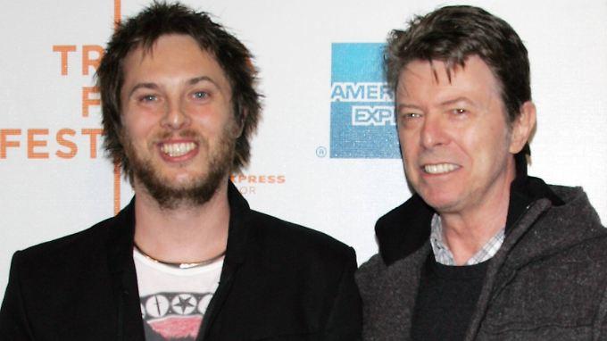 Damals war noch alles gut: Duncan Jones und sein Vater David Bowie 2009.