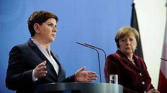 Staatsbesuch in frostiger Atmosphäre: Polens Regierungschefin Szydlo trifft Merkel in Berlin