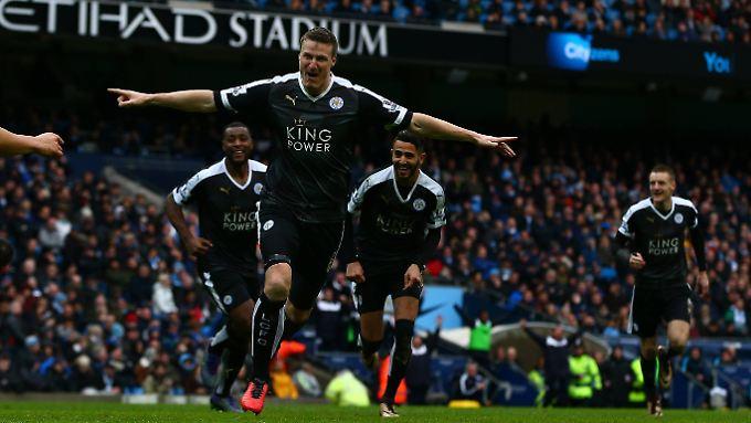 Robert Huth und Leicester City wollen auch gegen den FC Arsenal ihren Höhenflug fortsetzen.