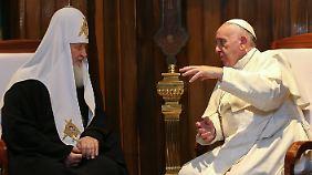 Zwei Stunden sollte das Gespräch zwischen Papst und Patriarch dauern.