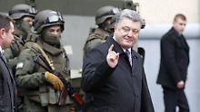 """""""Das ist Ihre Aggression"""": Poroschenko wütet gegen Putin"""