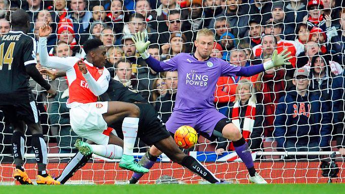 In der 95. Minute meldete sich Arsenal dank Danny Welbeck im Titelrennen zurück.
