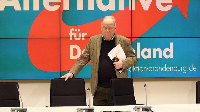 AfD-Vize Alexander Gauland hier im brandenburgischen Landtag in Potsdam.