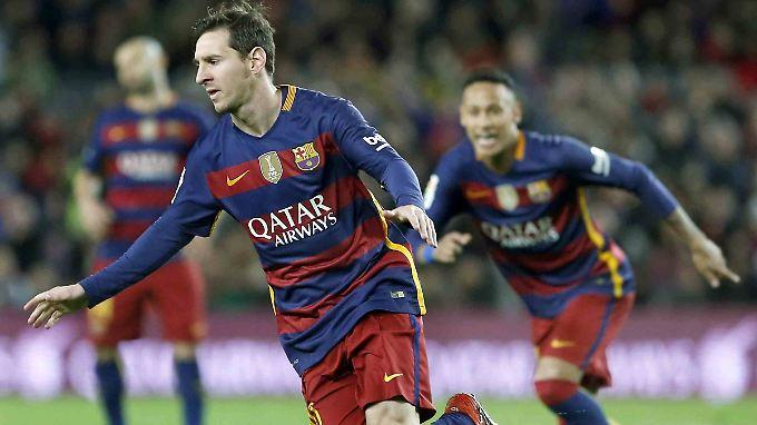Lionel Messi machte den Auftakt mit seinem Führungstreffer in der 28. Minute.