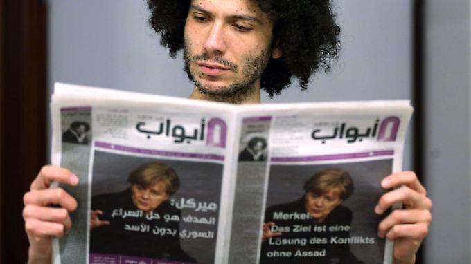 """Ramy Al-Asheq ist Chefredakteur von """"Abwab"""", der bundesweit ersten arabischsprachigen Zeitung für Flüchtlinge."""