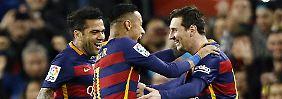 Erstmal quer spielen: Messis Elfmetertrick überrascht Mitspieler