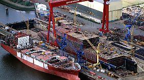 Die Bremer Vulkan Verband AG mauserte sich zeitweise zur größten Werft Deutschlands.