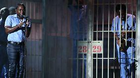 Auftritt mit Gefängniszelle: Kendrick Lamar bleibt der Polit-Aktivist unter den Rap-Stars.