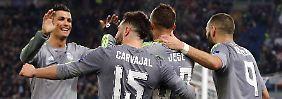 CL-Auswärtssieg für Real Madrid: Ronaldos Kunstschuss knackt Roms Abwehr