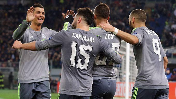 Real-Superstar Cristiano Ronaldo zeigte beim 1:0 gegen Rom sein ganzes Genie.